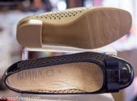 Alpina Alba punched leather summer court shoe. A really special shoe and available now to try on in store if you're passing our Whitchurch Hampshire shop near Basingstoke, Newbury, Winchester and Andover